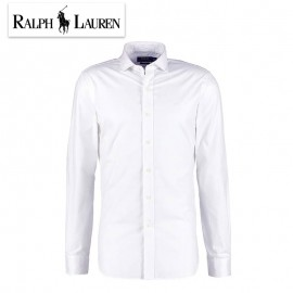 Chemise Ralph Lauren blanche - SLIM - Col à boutons