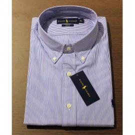 Chemise Ralph Lauren bleue à rayures - SLIM