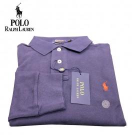 Polo manches longues Ralph Lauren SLIM - navy