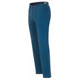 Pantalon homme Slim coton stretch velour 1000 raies