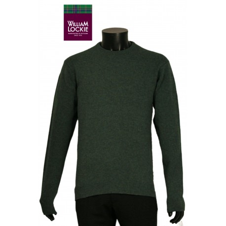 William Lockie pull homme laine slim col rond laine Ecosse  haut de gamme luxe