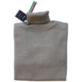 Pull homme laine col roulé laine super Geelong Italie