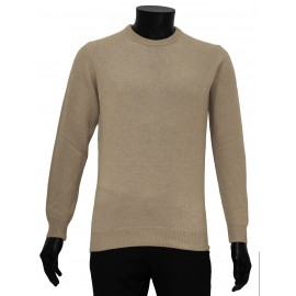 Pull homme laine col rond laine super Geelong Italie marque officiel
