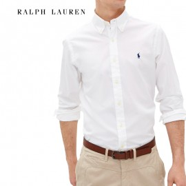 Chemise Oxford slim fit rayures