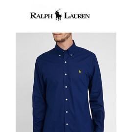 Chemise Ralph Lauren Bleue - SLIM - col à boutons